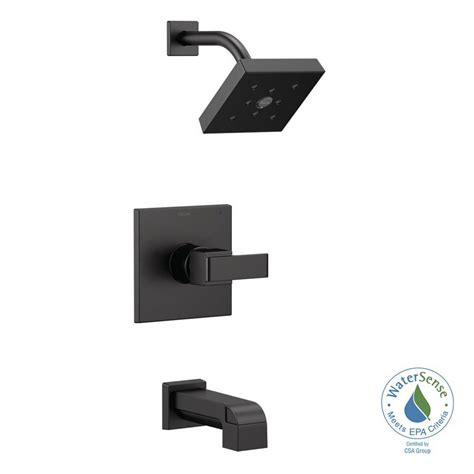 delta ara wall mount faucet delta ara 1 handle wall mount tub and shower trim kit with