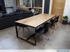 Table De Salle A Manger Industriel : table salle a manger m tal bois style industriel a vendre ~ Teatrodelosmanantiales.com Idées de Décoration