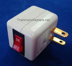 1x Single Outlet Ac Wall Plug On  Off Lighted Power Switch