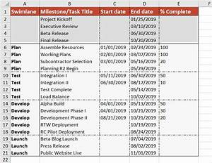 How To Import Excel Data As A Swimlane  U2013 Office Timeline