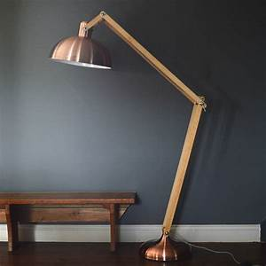 copper and wood floor lamp by the forest co With used wood floor lamp