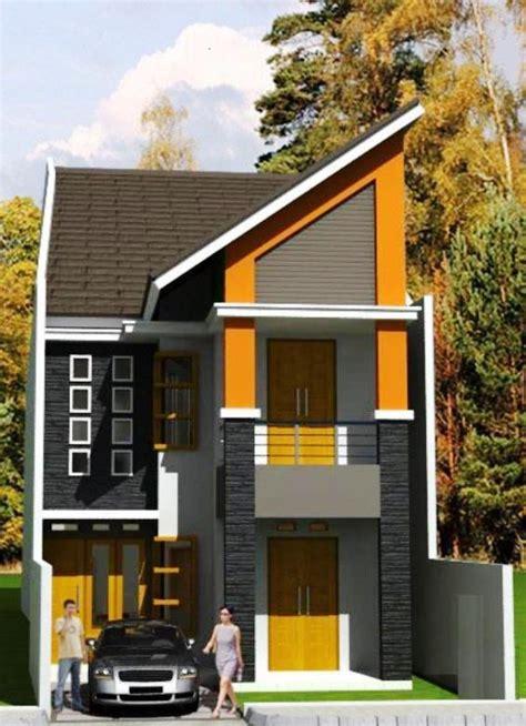 desain eksterior rumah minimalis  lantai  lahan