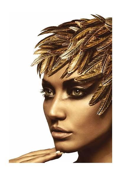 Golden Gold Makeup Goddess Face Hair Beauty