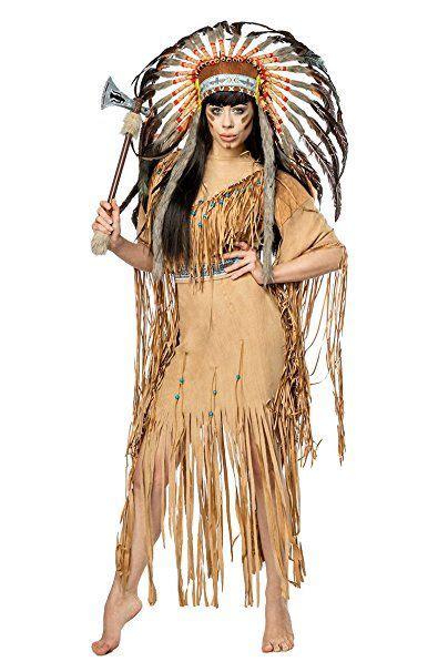 damen indianer kost 252 m verkleidung mit federn und fransen