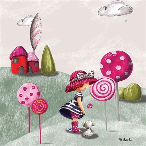 tableau enfant sur toile 35x35cm lollipop artmosphere la redoute tableaux naifs