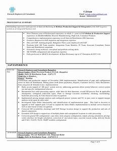 sample resume for sap fico consultant - sap sd 3 years