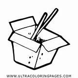 Cibo Colorare Colorear Comida Andare Disegni Pagina Wok Ir Dibujo Coloring Ultracoloringpages sketch template