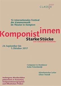 Verkaufsoffener Sonntag Kempten 2017 : festival 2017 komponistinnen gibt es eine weibliche musik classix kempten ~ Eleganceandgraceweddings.com Haus und Dekorationen