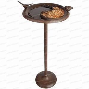 Abreuvoir A Oiseaux Pour Jardin : bain d 39 oiseau abreuvoir mangeoire sur pied mangeoires bains d 39 oiseaux ~ Melissatoandfro.com Idées de Décoration