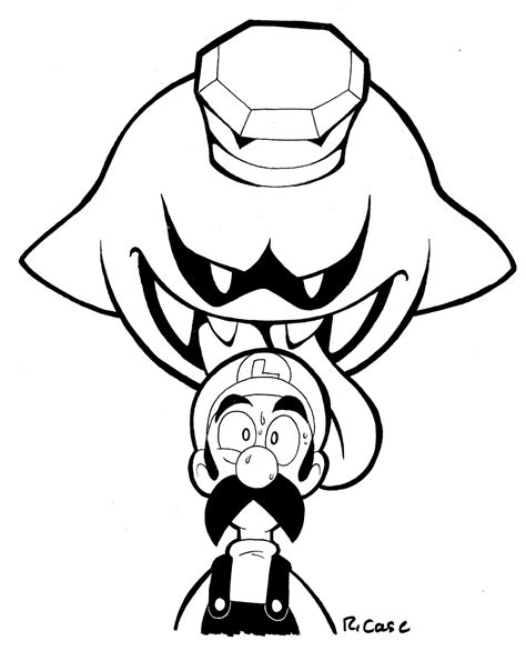 Kleurplaat Luigi Mansion by King Boo Coloring Pages Coloring Home