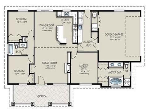 simple  bedroom house plans  bedroom  bath house plans