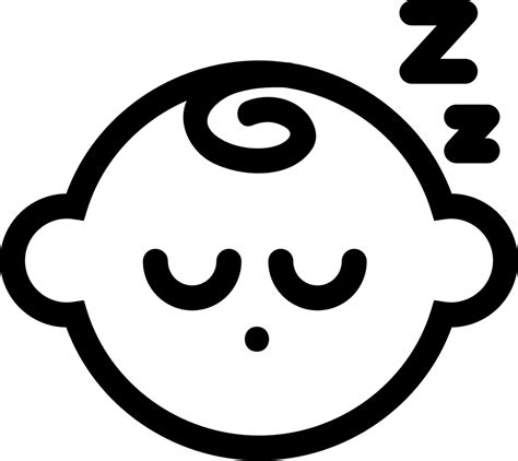 Can be opened and used by almost every computer out there the png is saved with a transparent background. Sleeping Baby Svg Png Icon Free Download (#38149 ...