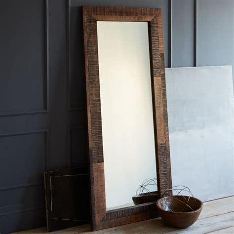 floor mirror wood reclaimed wood floor mirror west elm