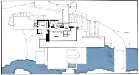 interior design for small living room and kitchen the fallingwater house by frank lloyd wright remains