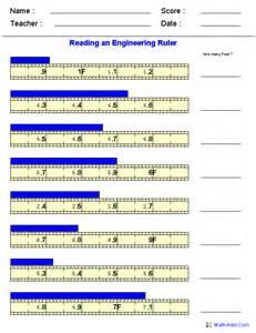 Reading Ruler Measurement Worksheets