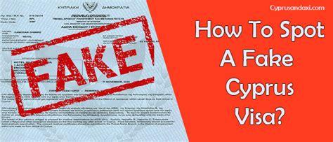 spot  fake cyprus visa updated