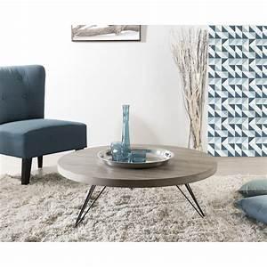 Table Bois Et Noir : table basse bois et metal noir ~ Dailycaller-alerts.com Idées de Décoration