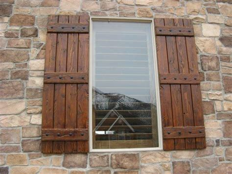 arched window treatments patterns rustic shutters custom exterior designs