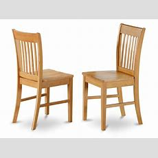 Set Of 4 Norfolk Dinette Kitchen Dining Chairs With Wood