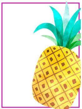 editable tropical binder covers  simply speech tpt