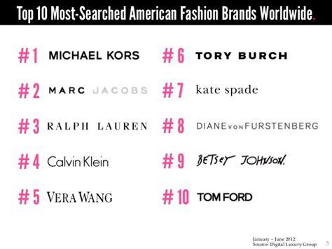 World Luxury Index American Fashion