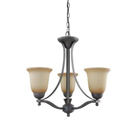 commercial electric 3 light rustic iron chandelier