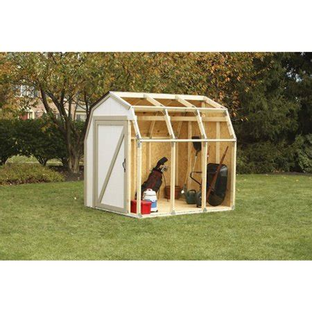 barn style shed kits 2x4 basics shed kit with barn style roof walmart