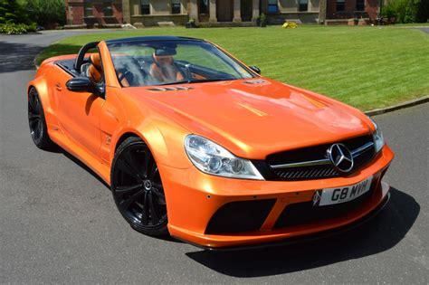 orange mercedes mercedes sl r230 to sl65 black series xclusive customz
