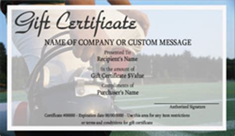 football gift certificate templates easy   gift