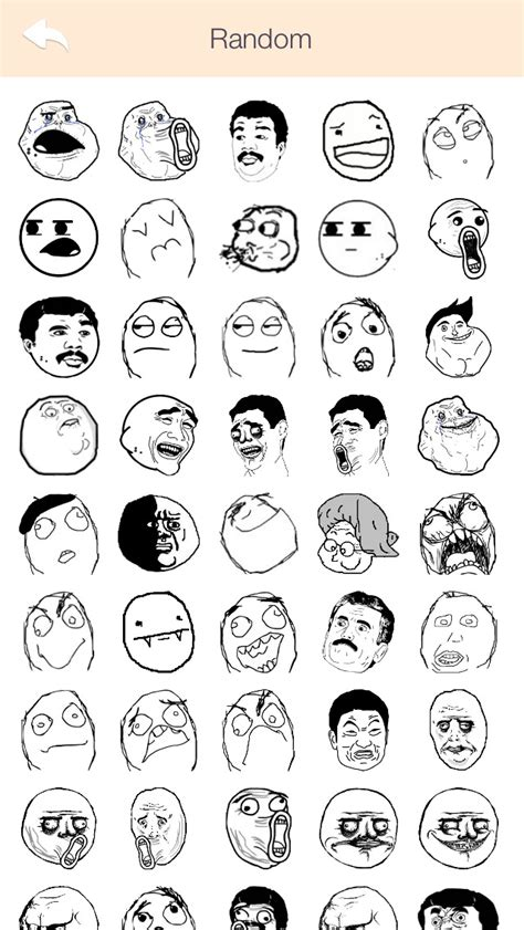 All Meme Faces And Names - ifunny rages troll faces pro stickers for whatsapp all messengers free iphone ipad app