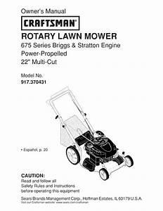 Craftsman 917 370431 Owner U0026 39 S Manual