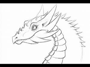 How to draw a dragon - 10 minute fast doodle 1 - YouTube