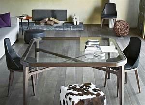 table et chaises avec deco salle a manger idees 29 photos With table salle À manger plateau verre pour deco cuisine