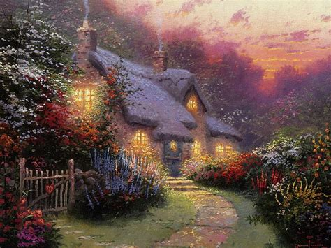 Kinkade Cottage Paintings by Kinkade Cottage Paintings Of Light