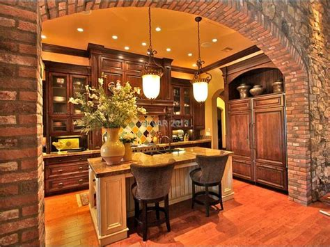tuscan kitchen lighting tuscan kitchen with pendant lights and arch the 2982