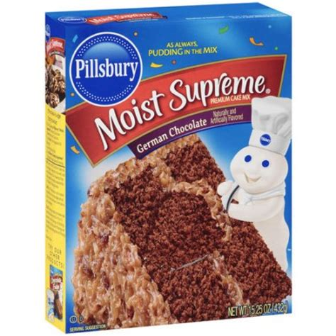 moist supreme german chocolate cake mix  pillsbury