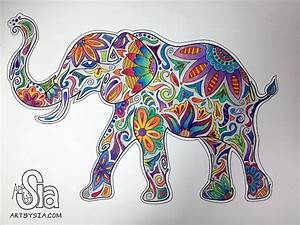 Colorful Elephant Design | www.imgkid.com - The Image Kid ...