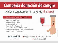 Calendario de Actividades UCR Campaña de donación de sangre