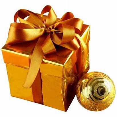 Transparent Christmas Gift Gold Background Graphics December