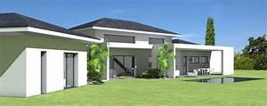 maison d39architecte contemporaine a tuiles noires et With photo maison toit plat 4 de maison originale avec piscine toit plat e4