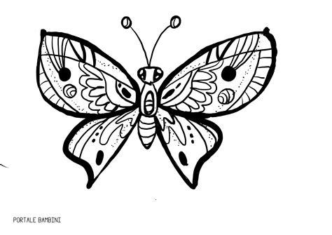 siti per colorare immagini libro da colorare della farfalla per il vettore degli