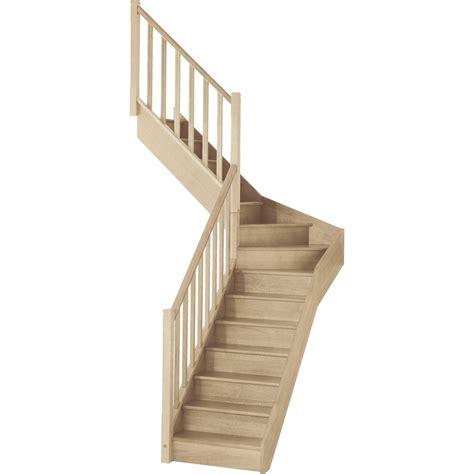 escalier bois quart tournant escalier soft quart tournant interm 233 diaire gauche h274