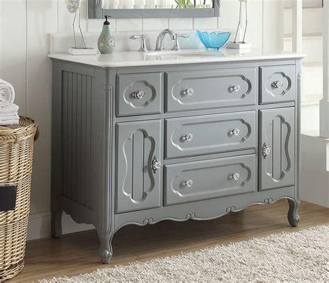 bathroom vanity grey cottage style vintage gray