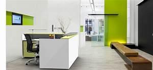 Office, Design, Layout, Ideas, With, Reception, Desks
