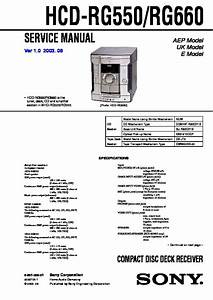 Sony Mhc-rg550 Service Manual