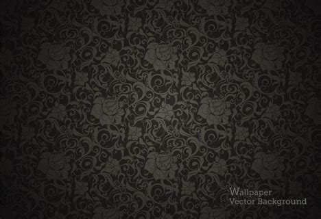 seamless wallpaper black pattern vector ai svg eps