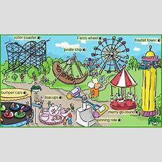 Fairground Attraction Vocabulary  Amusement Park  English Vocabulary, Park, Vocabulary