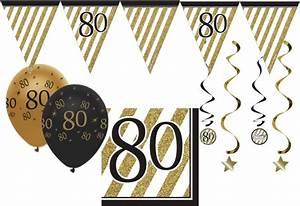 Besinnliches Zum 80 Geburtstag : 34 teile dekorations set zum 80 geburtstag oder jubil um party deko in schwarz gold ~ Frokenaadalensverden.com Haus und Dekorationen