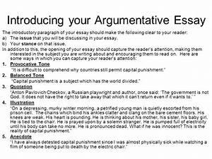 introduction of argumentative essay