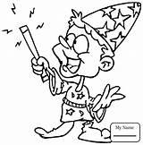 Coloring Wizard Wand Magic Czarodziej Pages Printable Young 1989 Kolorowanka Pl Getdrawings Druku Noce Hat sketch template